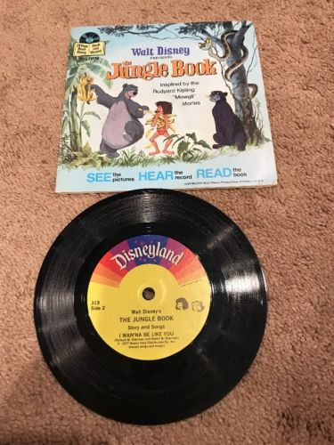 Walt Disney Jungle Book Book And Record