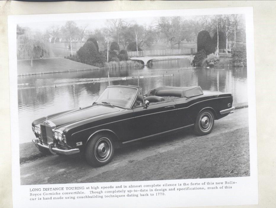 1971 Rolls Royce Corniche ORIGINAL Factory Photograph ww7057