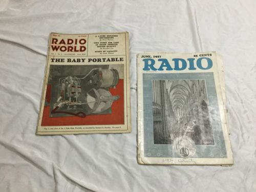 Radio Magazine June 1927 & Radio World Mag May 1925