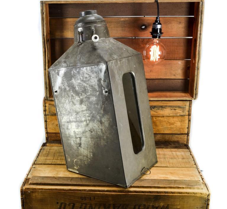 Vintage Depression Era Hoosier Cabinet Glass Metal Flour Bin & Sifter