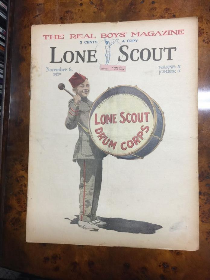 Lone Scout Magazine NOV 6 1920 VOL X #3 BOY SCOUTS DRUM CORPS