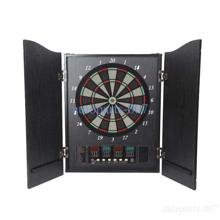 Portable Electric Dartboard Game Fun Kids Home 12 Soft Darts Variety Gaming