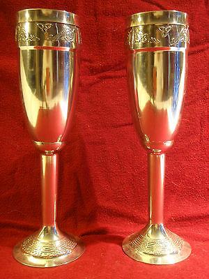 Mullingar Pewter Flutes Champagne Celtic Irish Wedding
