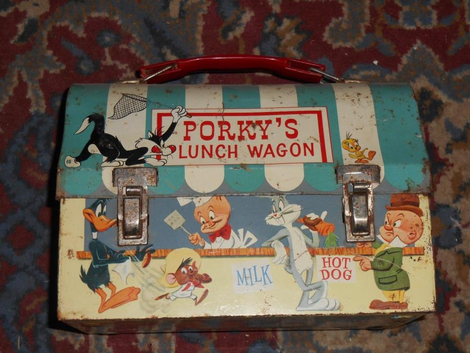 1959 Porky's Lunch Wagon Metal Lunch Box Vintage Collectable