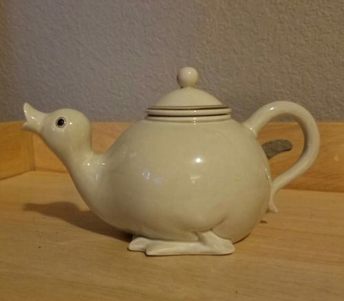 Fitz and Floyd duck teapot