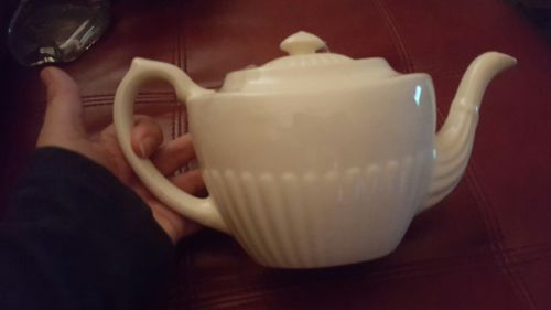Staffordshire England ivory teapot