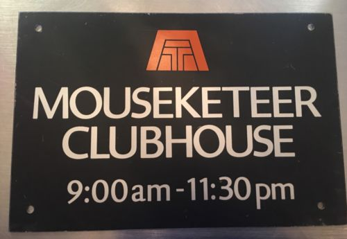 Vintage Mousketeer Clubhouse Sign, Mickey Mouse