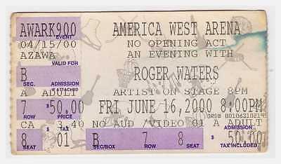 Roger Waters - 6-16-00 -  - Phoenix, AZ concert ticket stub - Pink Floyd