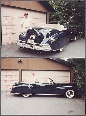 Vintage Car Photos 1946 1948 Lincoln Continental Convertible Automobile  748289