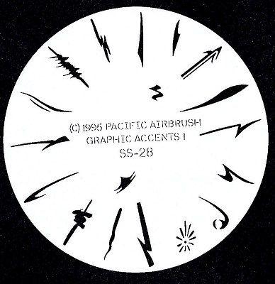 GRAFIX ACCENT ART #28 FINGERNAIL AIRBRUSH STENCIL AIRBRUSHING NAIL ART
