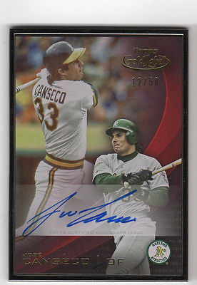 2016 Topps Gold Label Jose Canseco AUTO 12/50 Autograph Signed Framed Border