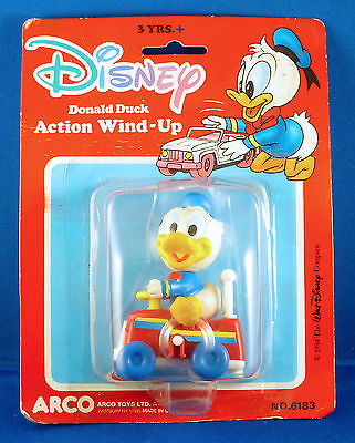 Vintage Disney Donald Duck Action Windup, Unused, 1984 China