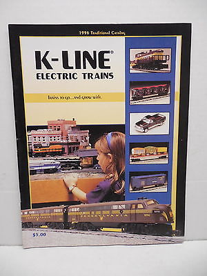 K-Line Electric Toy Railway Trains 1996 Catalog Engines Freight Cars Buildings