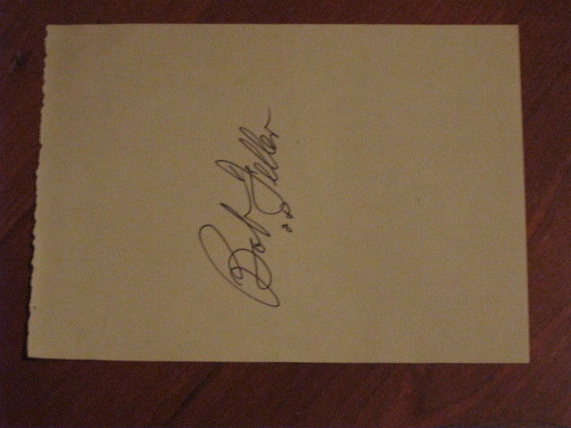 Bob Feller Autographed Index Card JSA Auc Certified