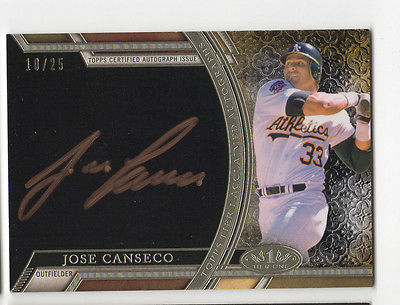 2015 Topps Tier One Jose Canseco 10/25 Bronze AUTO Autograph Signed 1 A's