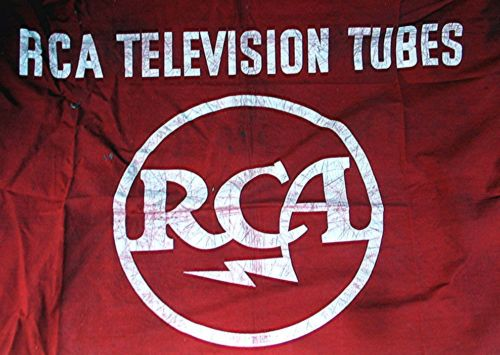 Vintage RCA Advertising Red Table Cloth -- RCA Television Tubes
