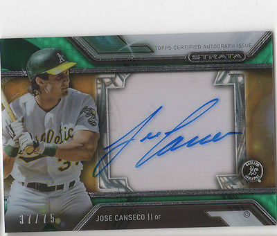 2016 Topps Strata Jose Canseco 37/75 AUTO Autograph Signed A's