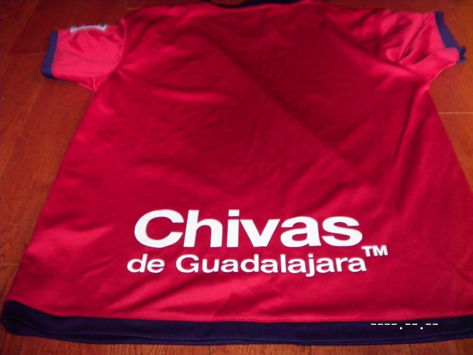 Chivas de guadalajara FMF Offical mexico soccer jersey shirt Youth Medium M RED
