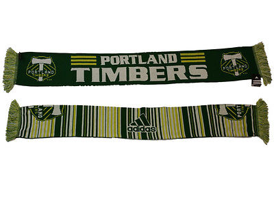 Portland Timbers Adidas Striped Reversible Knit Winter Scarf (54