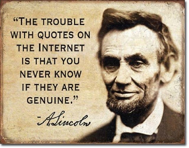 Abe Lincoln Quotes on the Internet Funny Humor Bar Wall Decor Metal Tin Sign New