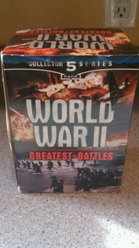World War 2 Greatest Battles collector series 5 vhs by Good Times home video