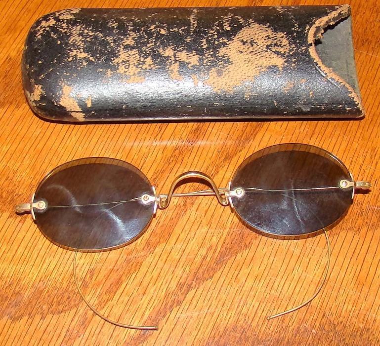 Antique Sunglasses with Case