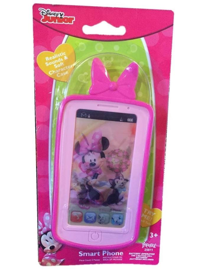 Disney Minnie Mouse Hot Pink Smart Phone with Realistic Sounds