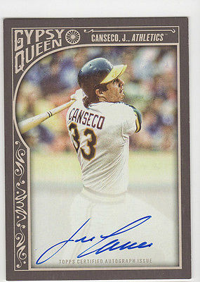 2015 Topps Gypsy Queen Jose Canseco AUTO Autograph Signed ON CARD A's