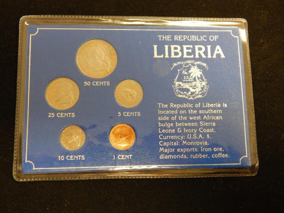 Republic of Liberia 5 pc coin set