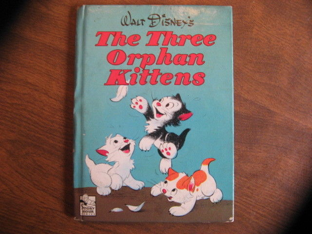 VINTAGE 1943 WALT DISNEY'S THE THREE ORPHAN KITTENS  WHITMAN PUBLISHING