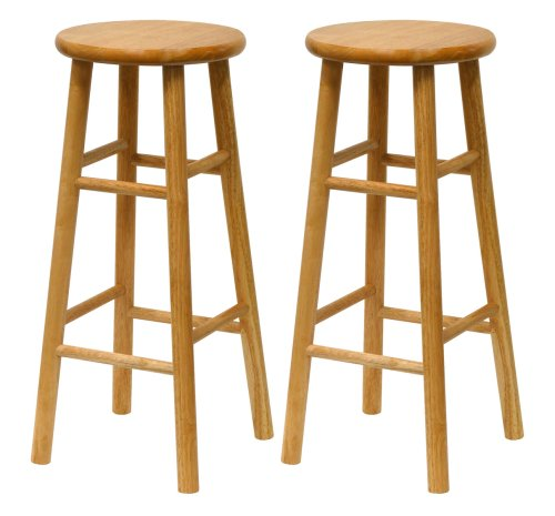 Winsome Wood S/2 Wood 30-Inch Bar Stools, Natural Finish