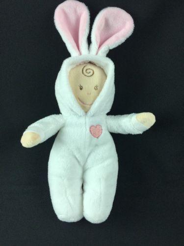 Baby Ganz Pj Bunny Tan Doll White Pajamas Plush 12