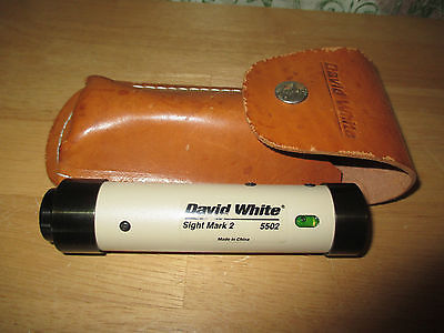 David White Sight Mark 2 5502 Level With Leather Pouch