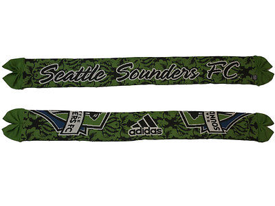 Seattle Sounders FC Adidas Womens Floral Reversible Knit Scarf (55
