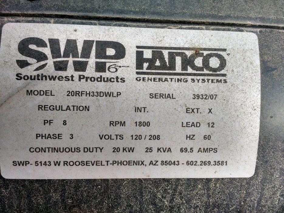 CGG Generator Head 164B 11KW 1 Phase 2 Bearing 120/240 Volts 1800 ...