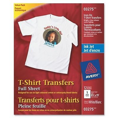 Avery Iron-on Transfer Paper 03275