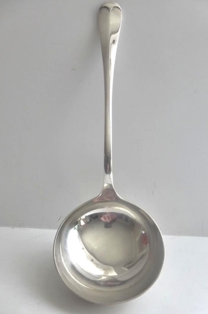 Antique John Maple & Co. London Silver Plate Soup Ladle