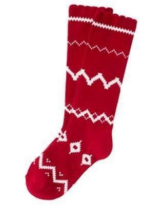 NWT Gymboree Penguin Chalet Red Fair Isle Knee Socks 3-4 5-7 8 + Up U Pick