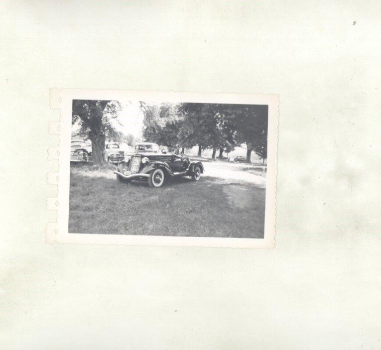 1935 1936 Auburn Speedster ORIGINAL Photograph ww7148