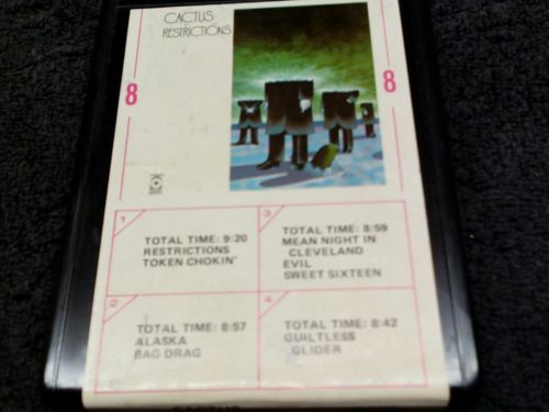 Cactus Restrictions 8 track tested