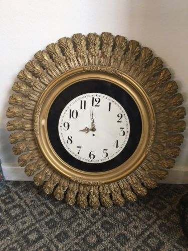 Hanbury Clock Germany 1955 Large Wall Clock
