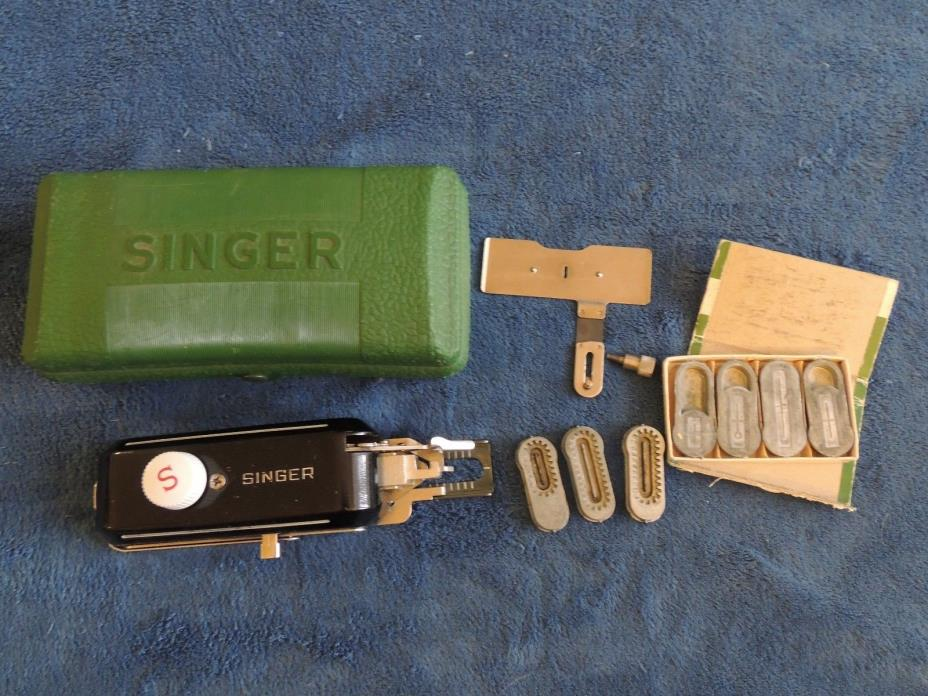 Vintage Singer Buttonholer 160506 Featherweight 221 Sewing Machine 7 templates
