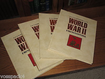 Illustrated World War II Encyclopedia 24 Book Complete Set, Very Good Condition