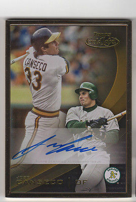 2016 Topps Gold Label Jose Canseco AUTO Autograph Signed Framed Border On Card
