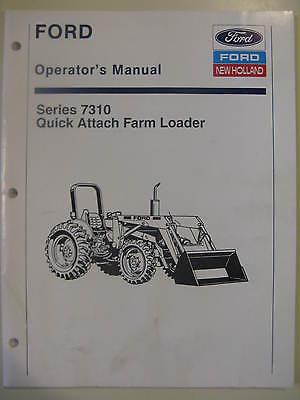 Ford 7310 Loader Operator Manual