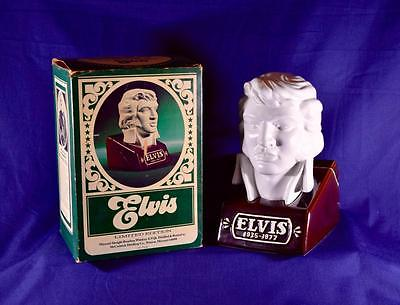 1977 McCormick Burbon Whiskey Decanter King Elvis Presley Bust In Original Box