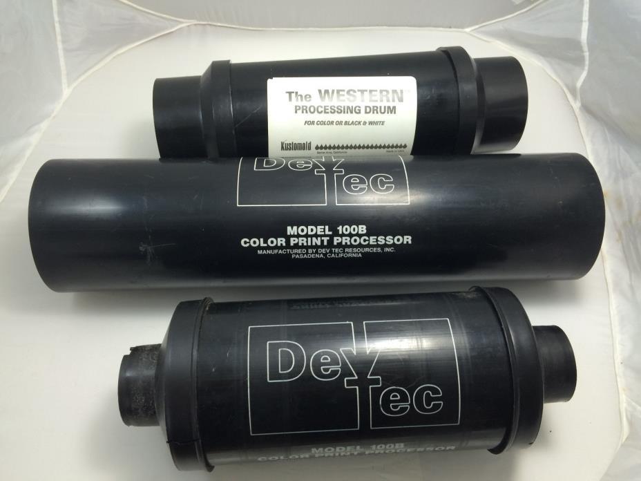 3 Processing Drums-DevTec 100b-Kustomold The Western-4x5 5x7 8x10 16x20