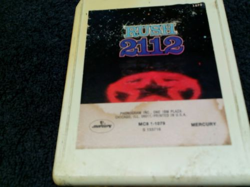 RUSH  2112  8 TRACK TAPE tested plays great