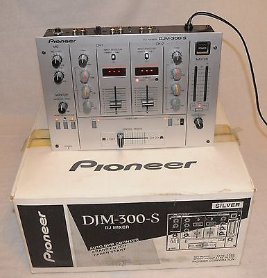 Pioneer DJM-300-S BMP Counter Professional 2 Channel DJ Mixer in Original Box