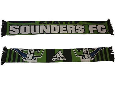 Seattle Soudners FC Adidas Striped Reversible Acrylic Knit Scarf (54